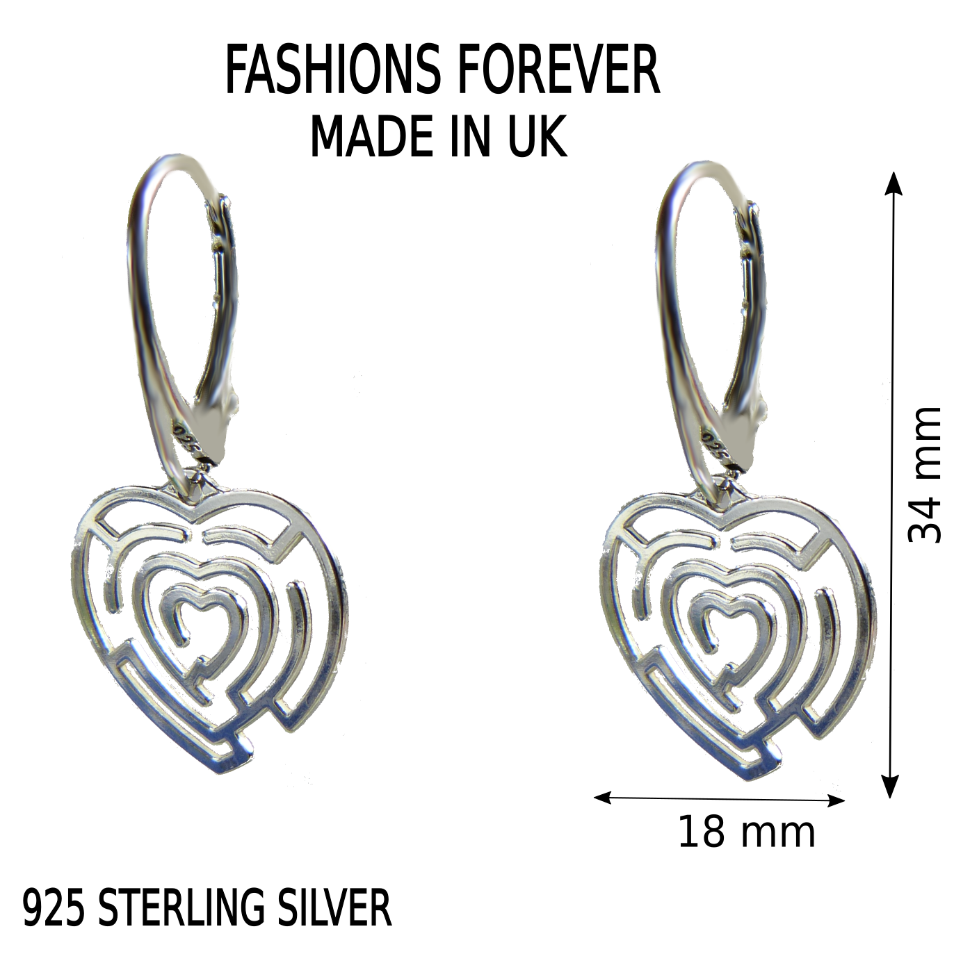 leverbacks bitmap sterling silver earrings maze anklet love fashions forever heart leverback shop